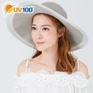 UV100 防曬 抗UV-雙色彩飾織帶帽
