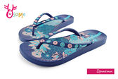 IPANEMA 女拖鞋 浪漫花卉夾腳拖鞋 巴西拖鞋 H5828#藍色◆OSOME奧森童鞋