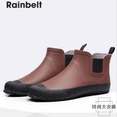 雨鞋防水鞋男士雨鞋時尚短筒雨靴戶外防滑膠鞋【時尚大衣櫥】