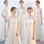 伴娘服長款新品冬季禮服女灰顯瘦伴娘團小禮服伴娘禮服晚禮服 生日禮物