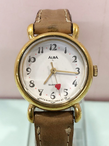 【震撼精品百貨】Hello Kitty 凱蒂貓~日本精品手錶-愛心 ALBA錶#52166