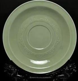[協貿國際]  青瓷水仙挂盤 (1入)