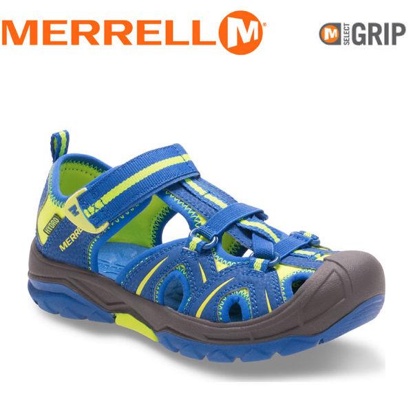 【MERRELL 美國 兒童 HYDRO《亮藍/黃》】MC56929/兒童涼鞋/休閒鞋/運動健走鞋★滿額送