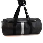 【奢華時尚】秒殺推薦稀有款!DIOR HOMME 黑色Logo防水帆布肩背旅行袋(八八成新)#23414