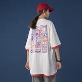 白色t恤女上衣2020年新款夏季韓版寬鬆假兩件大碼短袖ins潮半袖bf 童趣屋