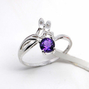 925銀 天然紫水晶 戒指