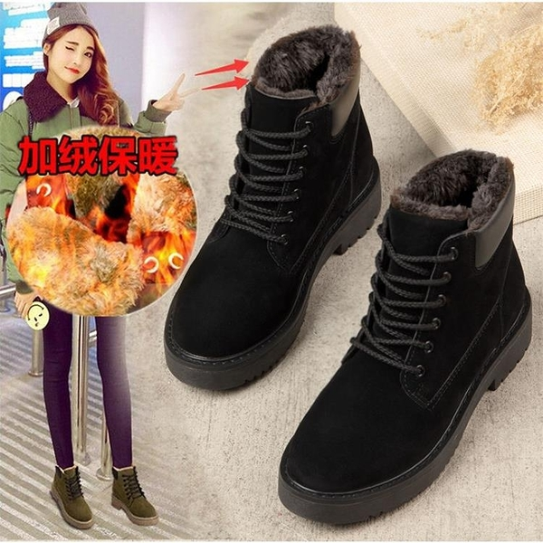 促銷九折 雪地靴女加厚靴子女平底學生韓版棉鞋冬季加絨短靴新款