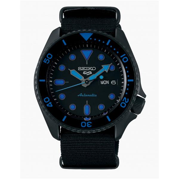 SEIKO 精工 新5號 Sports 系列機械錶 4R36-07G0A(SRPD81K1)-黑x黑