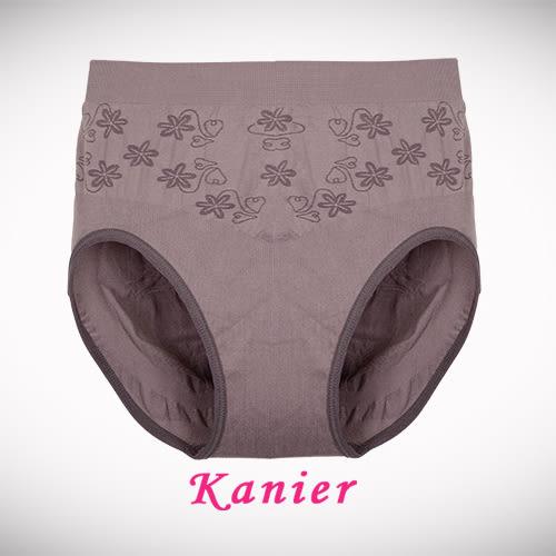 【Kanier】好彈力.提臀高腰三角褲 ( 紫 / 膚 / 粉 / 香檳黃 / 藍 / 灰 / 柑 / 紅 / 黑 / 芋_Free Size - 3009).