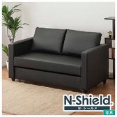 ◎耐磨皮革 2人用沙發床 N-SHIELD NOARK BK NITORI宜得利家居