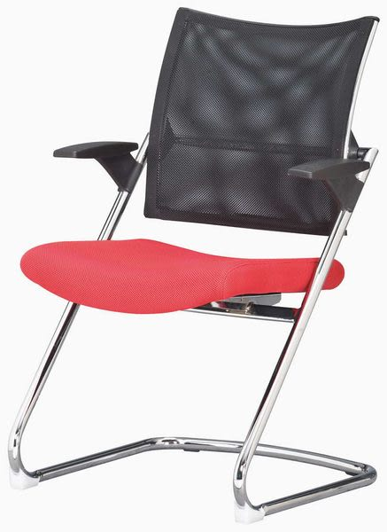 HP436-08 黑網背造型椅YS-392C-1扶手/紅布