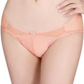 思薇爾-撩波系列M-XL蕾絲低腰三角褲(蜜橙色)