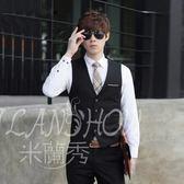 西裝馬甲 英倫風韓版修身型男裝 西服夾克背心