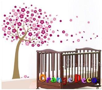 壁貼【橘果設計】梅花樹 DIY組合壁貼/牆貼/壁紙/客廳臥室浴室幼稚園室內設計裝潢