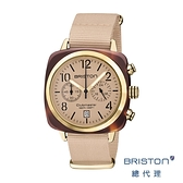 BRISTON 手工方糖錶 裸色 金框 時尚百搭 禮物首選