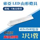 【奇亮科技】東亞 LTS2143XAA 兩尺單管 2尺1管 山形燈具 吸頂燈具 《搭10W E極亮燈管》 附發票