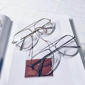 新款時尚潮流鏡框 金屬全框平光鏡 男女眼鏡 可配近視【無趣工社】