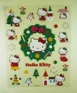 【震撼精品百貨】Hello Kitty 凱蒂貓~KITTY貼紙-耶誕花圈(s)