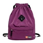 束口袋抽繩後背包男女戶外旅行運動健身簡易折疊學生書包防水背包【限時八折】