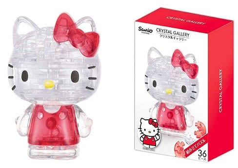 【拼圖總動員 PUZZLE STORY】Hello Kitty 日本進口拼圖/Hanayama/36P/立體透明塑膠