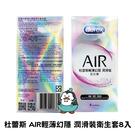 Durex杜蕾斯衛生套 保險套 AIR輕薄幻隱潤滑裝衛生套8入 粉