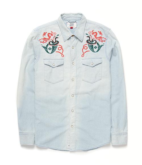 Deus Ex Machina Vintage Western Shirt 襯衫-藍(男)