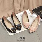 尖頭鞋 方扣金飾低跟鞋- 山打努SANDARU【04A662#46】