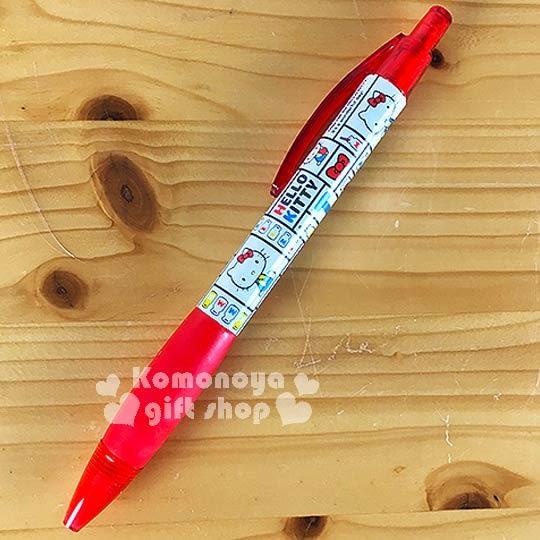 〔小禮堂〕Hello Kitty 自動鉛筆《藍白.側坐.牛奶.70年代系列》0.5mm筆芯4964694-38484
