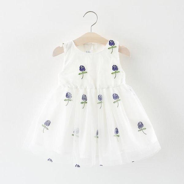 七夕全館85折 女童連身裙夏季兒童小女孩背心裙子