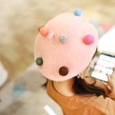 羊毛氈貝雷帽親子蓓蕾帽兒童帽子秋冬寶寶帽女童潮畫家帽可愛童帽