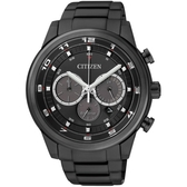 CITIZEN Eco-Drive 英倫時尚時計IP黑男錶(CA4035-57E)
