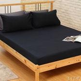 《特價品40支》雙人床包枕套三件組【黑緹花】-麗塔LITA-