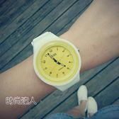 時尚潮流手錶男簡約夜光手錶學生休閒復古硅膠石英腕錶WY熱賣夯款【全館85折】
