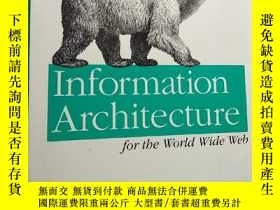 二手書博民逛書店information罕見architecture for the world wide webY16663