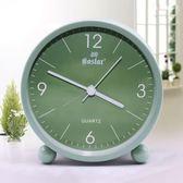 鬧鐘 時尚卡通可愛小鬧鐘創意靜音電子鐘簡約個性鐘錶兒童學生床頭時鐘  萬聖節禮物