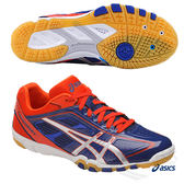 ASICS亞瑟士 男女桌球鞋(藍橘) ATTACK EXCOUNTER 超輕量桌球鞋 TPA327-4993【 胖媛的店 】