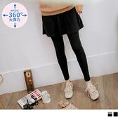 高含棉假兩件多層次孕婦彈性內搭褲裙 OrangeBear《MA0270》