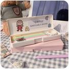 筆袋 文具鉛筆盒女韓國簡約初中高中潮少女小學生可愛日系網紅筆袋【快速出貨八折搶購】