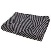 HOLA home 黑白幾何交織毯