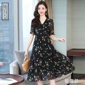 雪紡洋裝連身裙 女2019新款夏修身顯瘦氣質大碼很仙的長裙子 BT11773『優童屋』