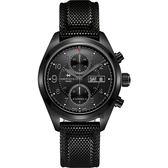 【贈送皮錶帶】Hamilton 漢米爾頓 卡其野戰系列日曆計時機械錶-黑/42mm H71626735