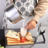 不粘鍋 304不銹鋼小奶鍋不粘鍋煮熱牛奶鍋小鍋迷你小蒸鍋嬰兒寶寶輔食鍋【美物居家館】
