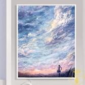 遙望天空鉆石畫滿鉆石繡客廳風景點鉆十字繡小幅【雲木雜貨】