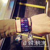 手錶 青少年手表男潮流時尚高中學生女韓版簡約夜光手鏈表