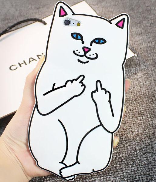 中指貓軟殼 三星 GALAXY S6 edge/ S7 edge/S6/S7手機保護套 手機殼 矽膠軟套