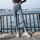 運動褲(長褲)-高腰純色拼紗瑜珈女褲子2色73ul15【時尚巴黎】