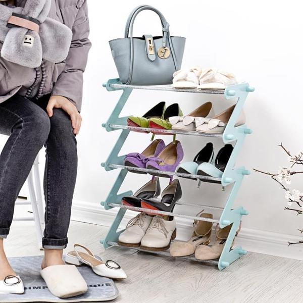 多功能塑料鞋架子家用客廳多層組裝鞋櫃鞋架素色簡易鞋托收納架YYS 新年禮物