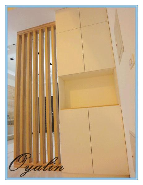 【歐雅系統家具】線條空間的隔柵鞋櫃