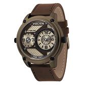 POLICE  時空戰區時尚雙時區腕錶-15268JSK-53