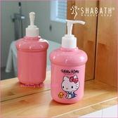 asdfkitty 可愛家~KITTY 粉紅色小鴨子擠壓空罐空瓶可裝沐浴乳洗手乳洗碗精韓國